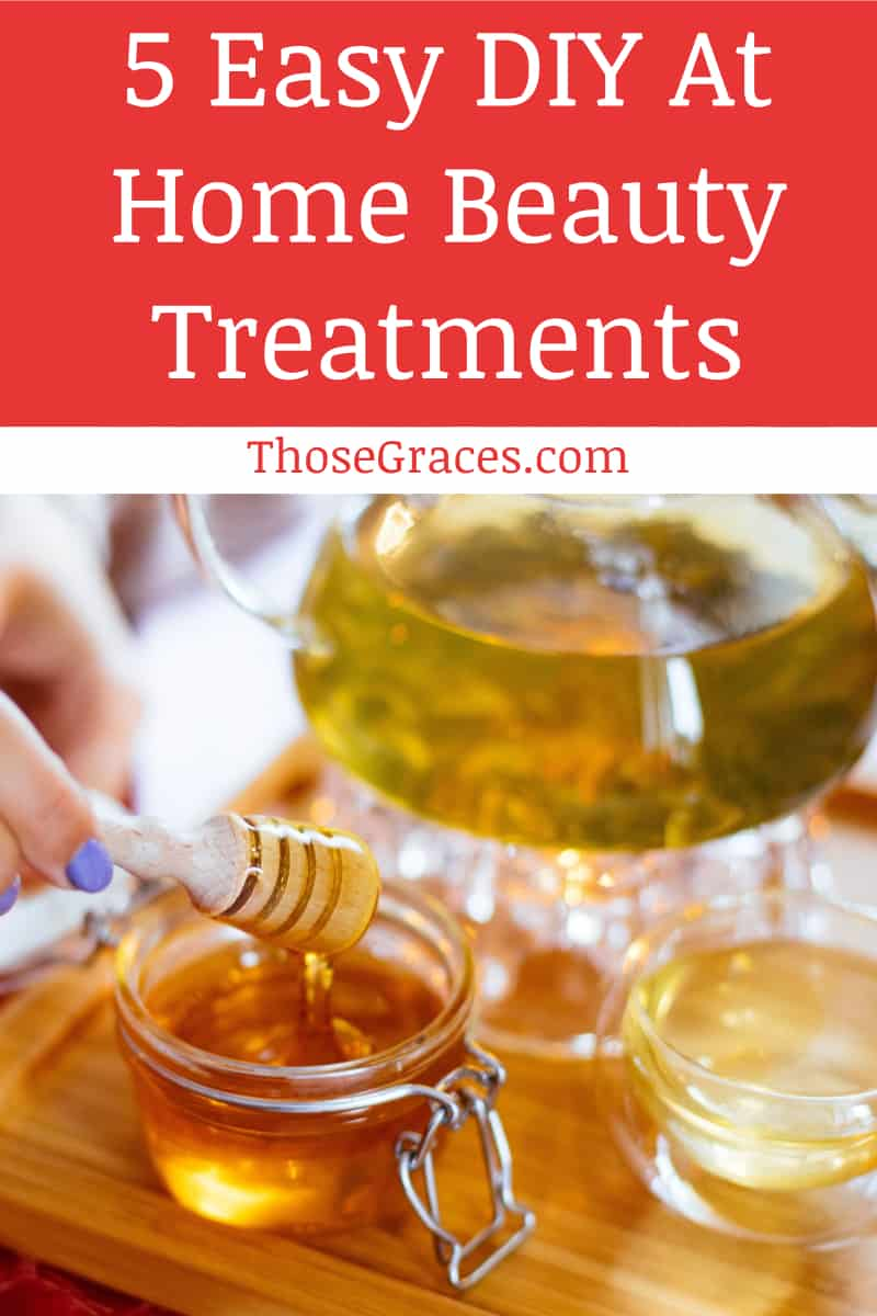 Want to try some easy home beauty treatments to save a little money? Check out these 5 simple DIY ideas!