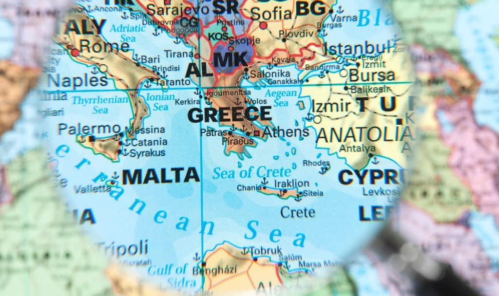 Mediterranean map olive skin tones