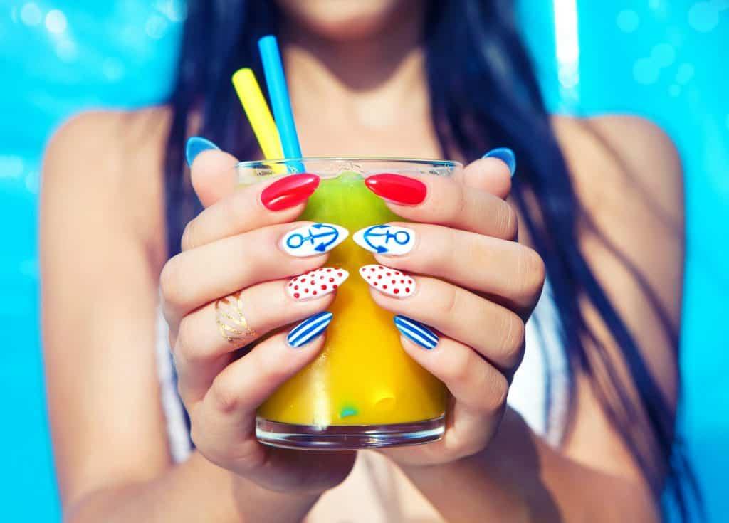 Summer nail designs anchors
