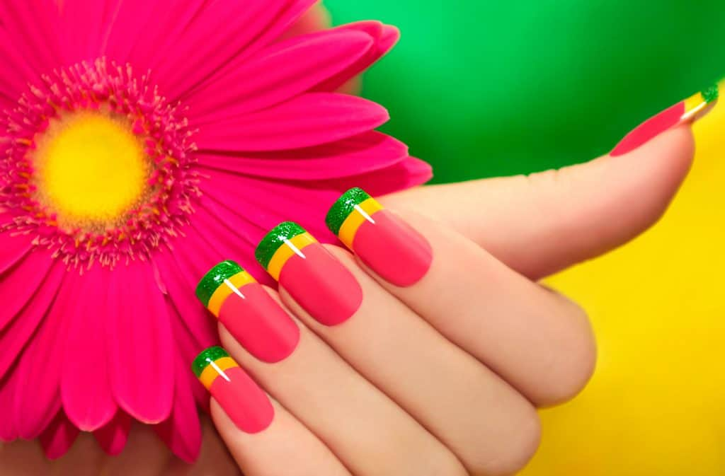 MULTI-COLORED MANICURE summer nails