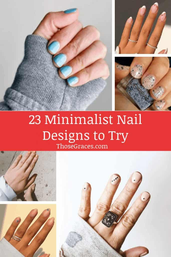 beautiful nail designs on a collage