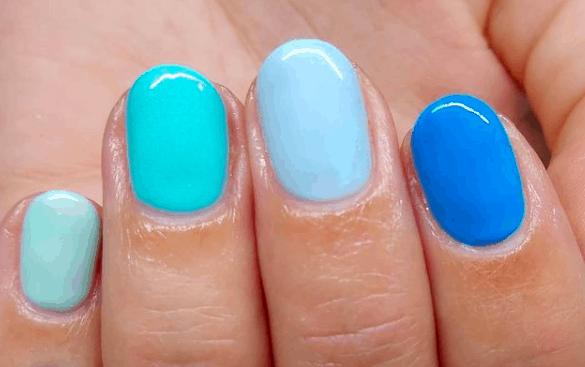 All Shades of Blue nail design