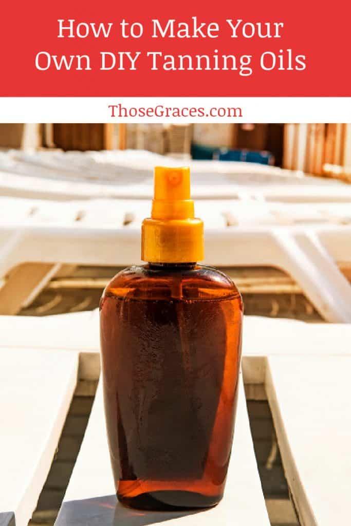 DIY tanning oils