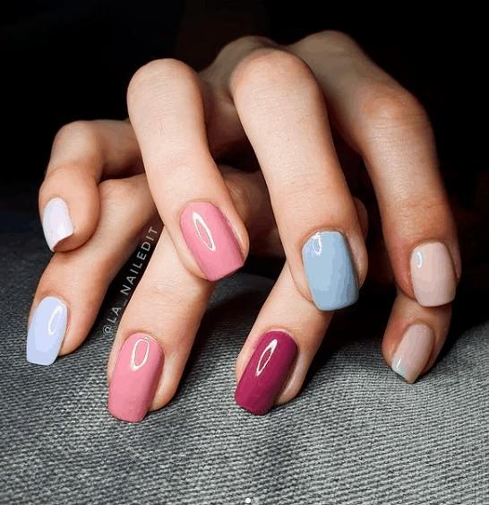 indie pastel nails