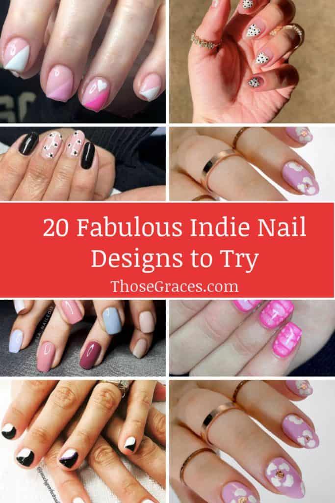 indie nails designs p