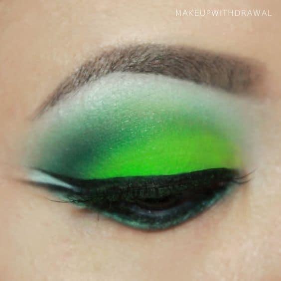 bright green eyeshadow