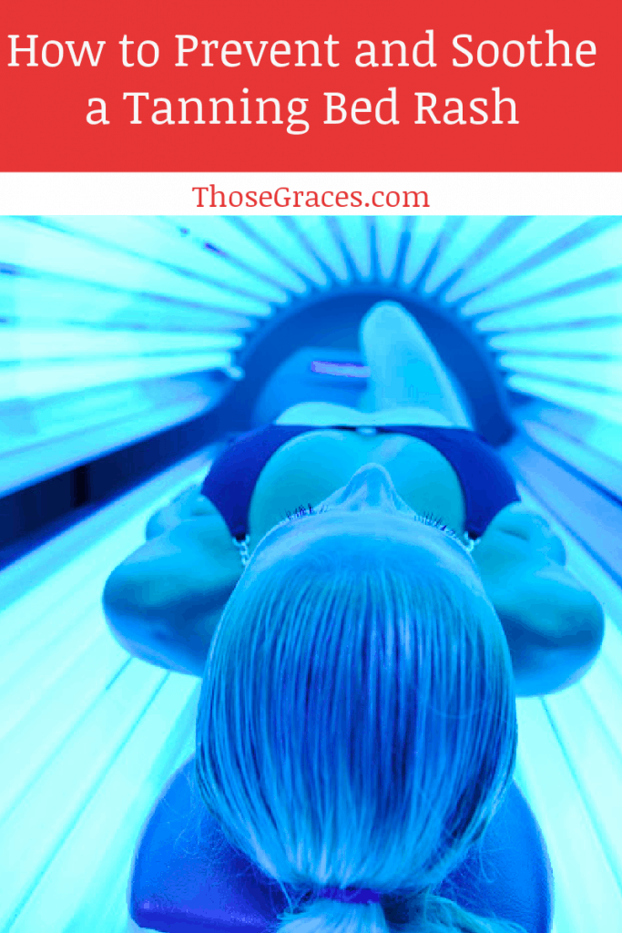woman lying in a tanning bed