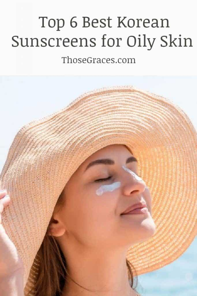 lady in summer hat using one of  the best Korean sunscreens for oily skin