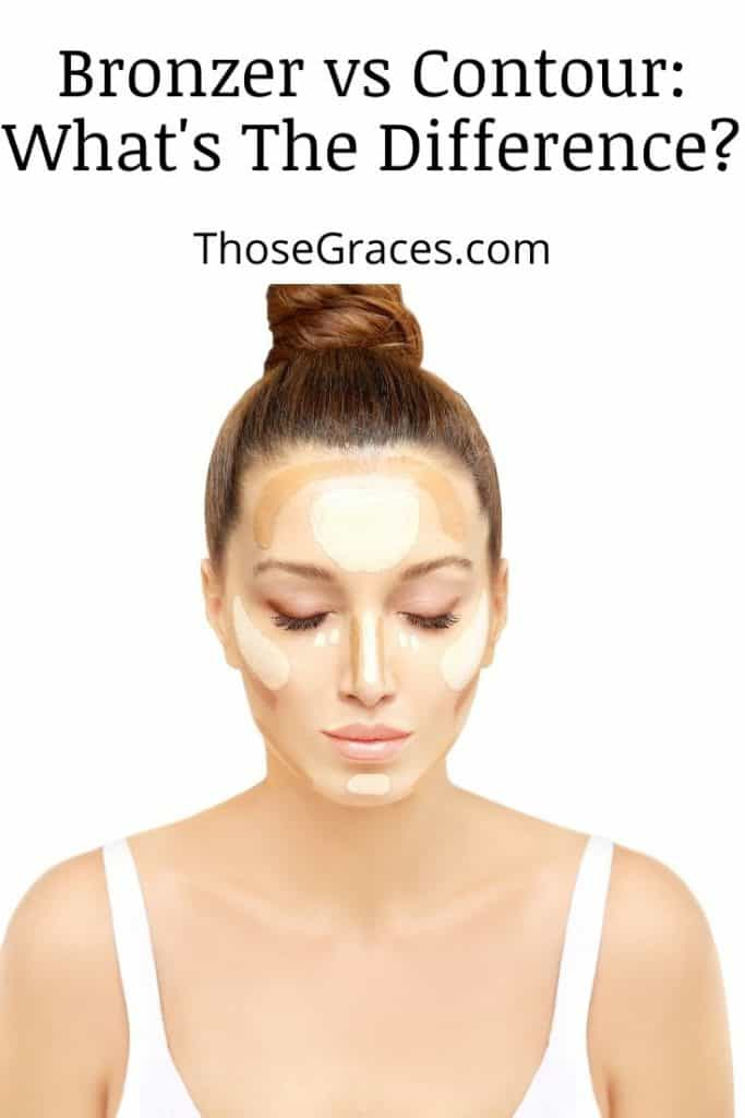 a beautiful lady with touches of contour and bronzer on her face
