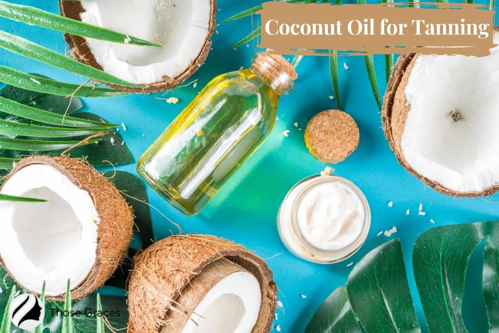 coconut oil and cream