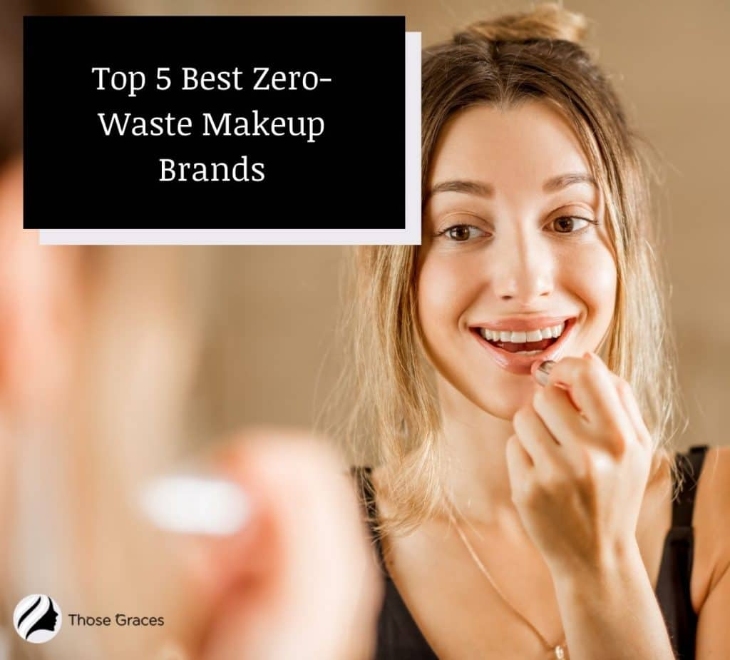 a Russian girl using a nude zero waste lipstick