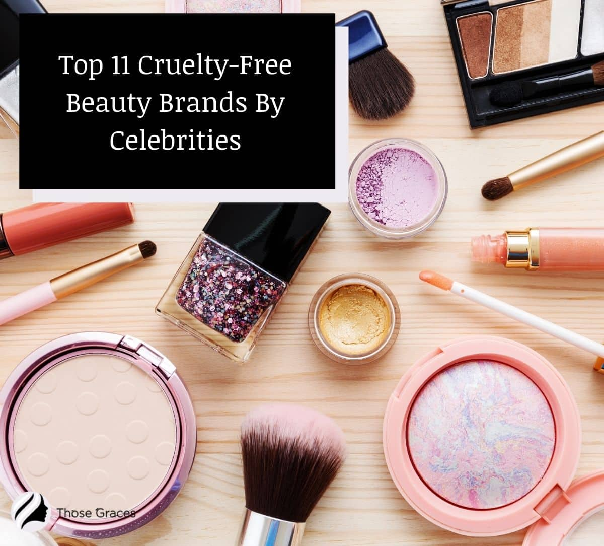 collection of cruelty-free beauty products