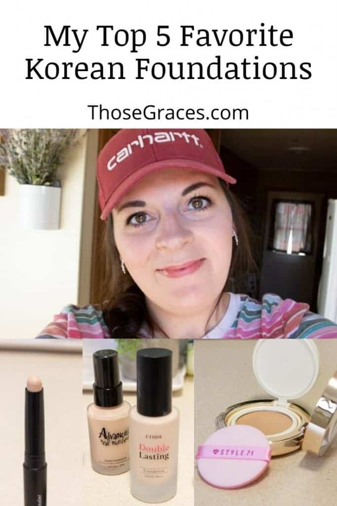 a beautiful lady with the best Korean foundation products