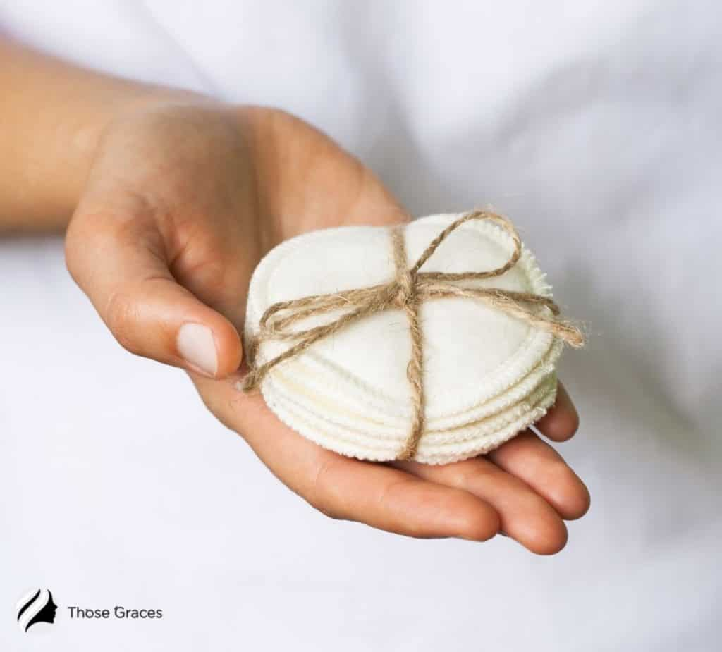 reusable round cotton pads