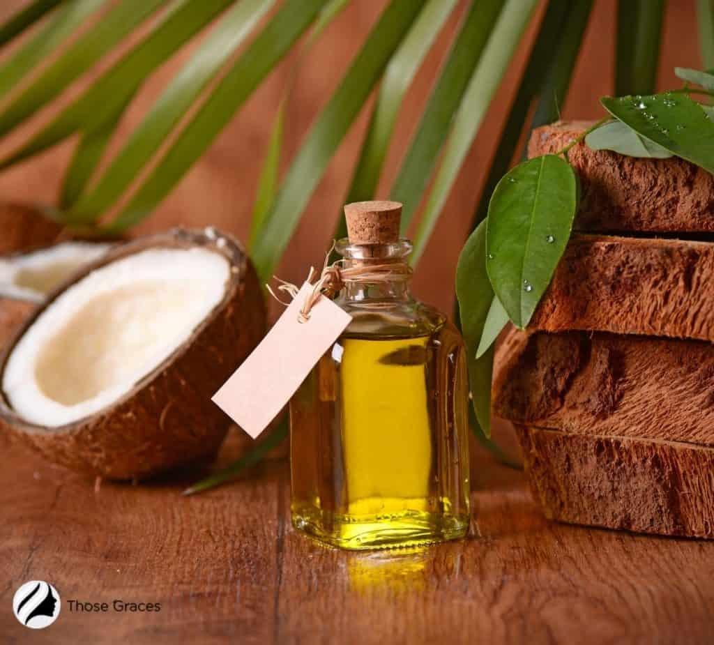 coconut oil in a bottle