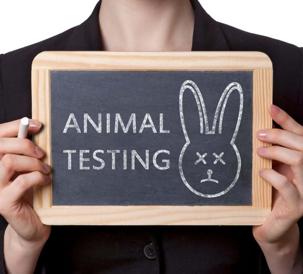 animal testing sign