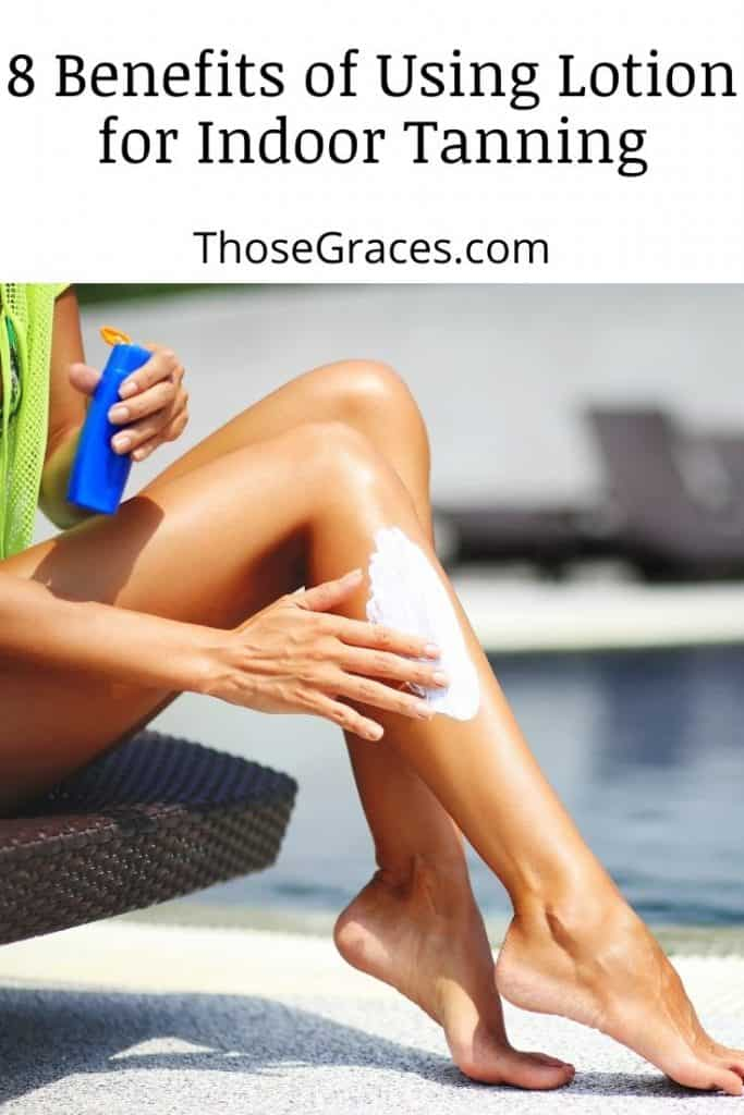 lady putting lotion on her legs but do you need lotion for tanning bed session?