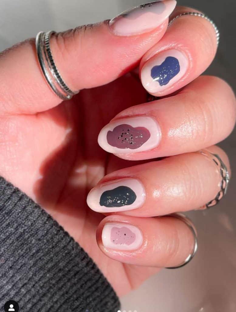just chillin fall nail design
