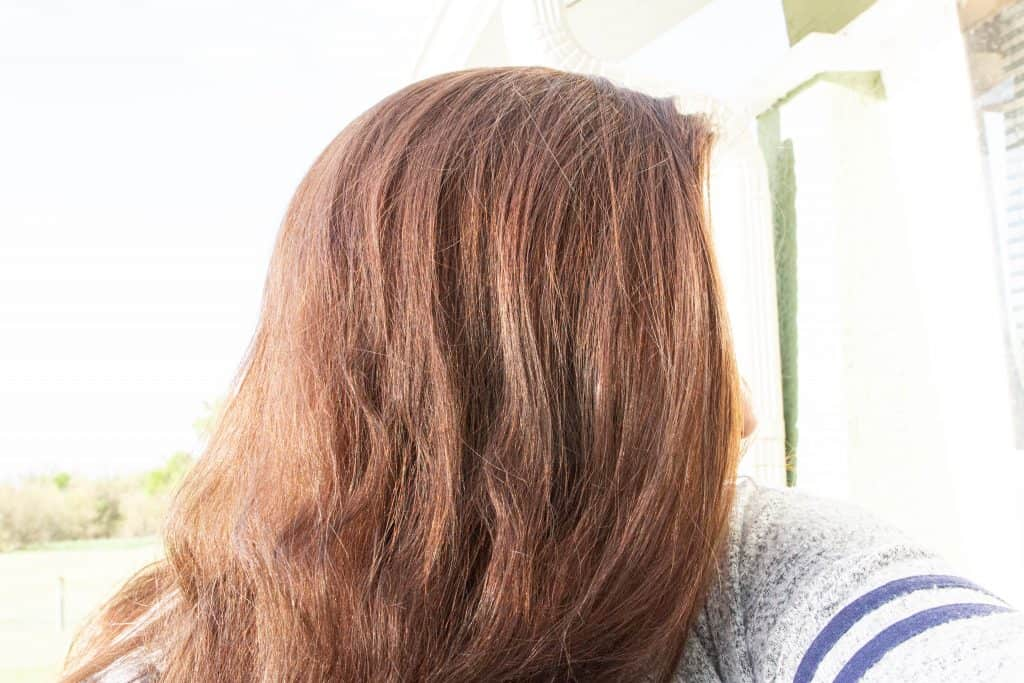 picture of the hair before using Navy hair care