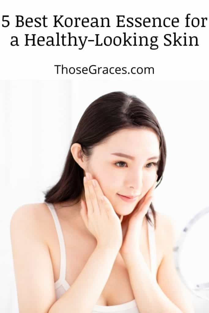a beautiful Asian lady with glowing skin achieved through using the best Korean essence