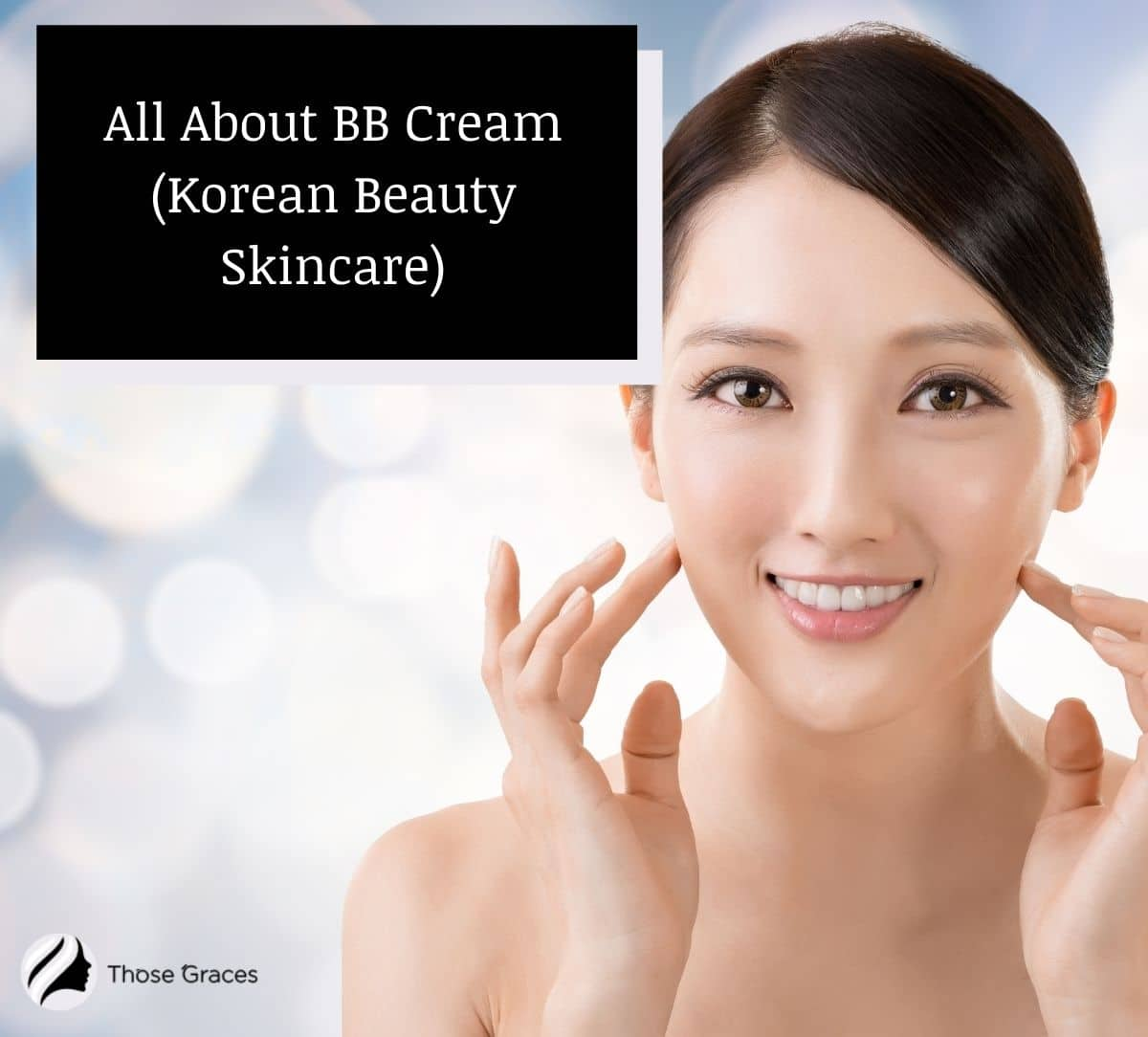 A Korean lady with a very flawless face. Do Koreans wear BB cream to achieve it?