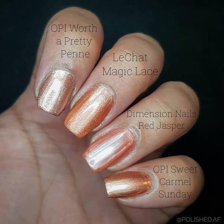 glittery fall nail design