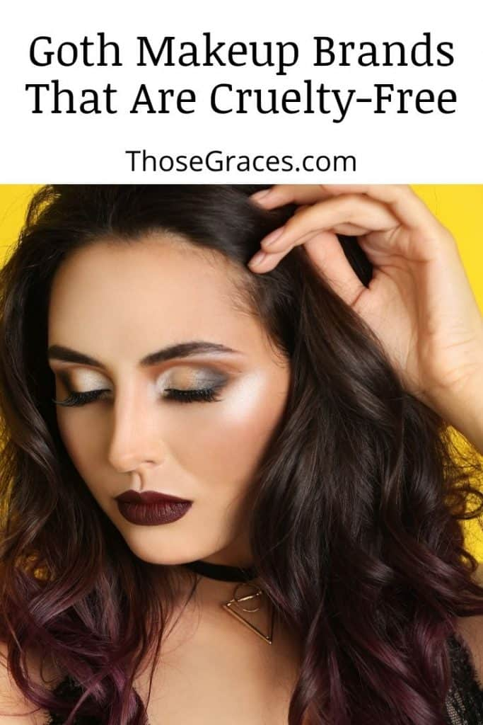 woman with a gorgeous look using goth makeup brands that are cruelty-free