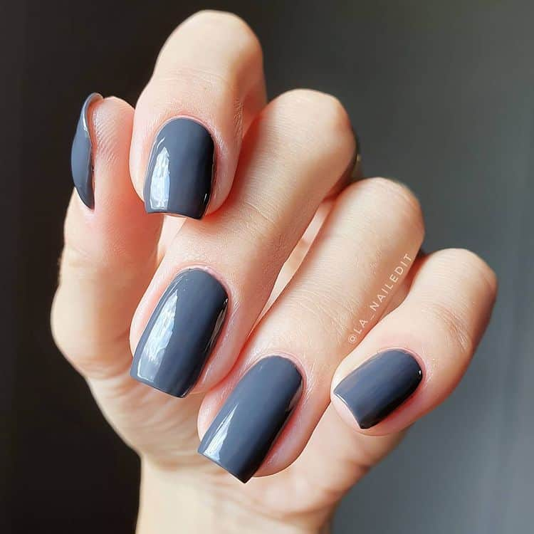 beautiful gray nails