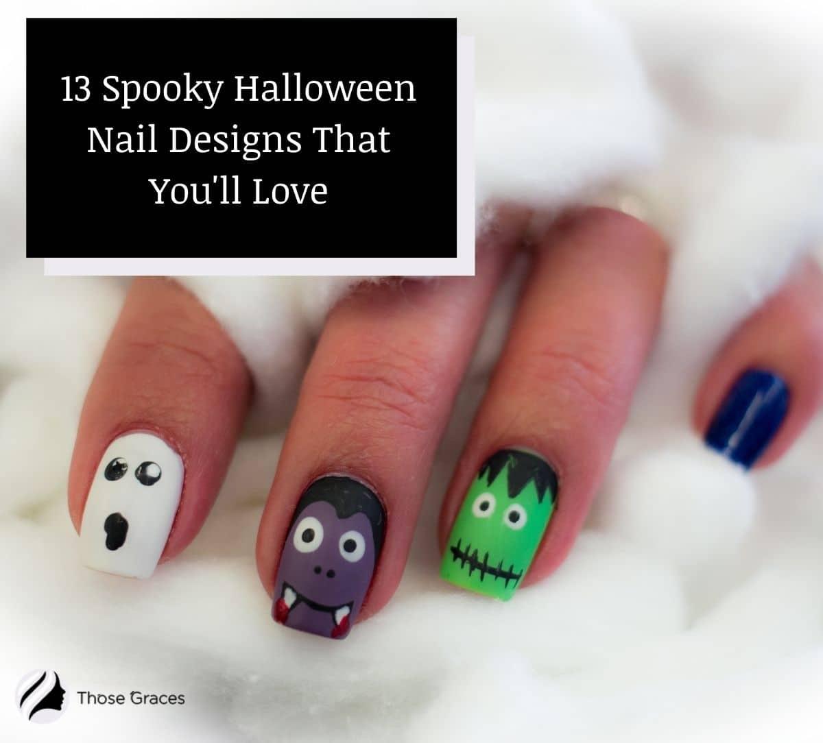 beautiful halloween nail designs