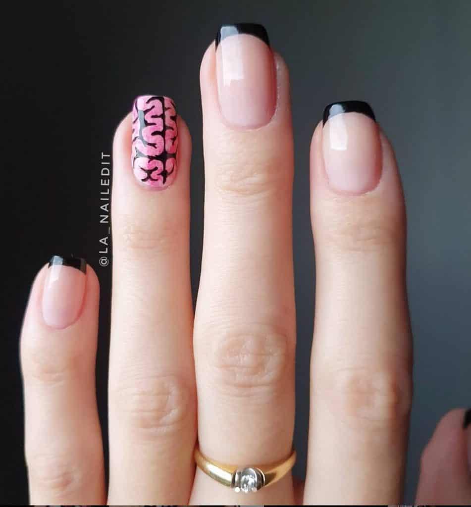 insane in the membrane nail design