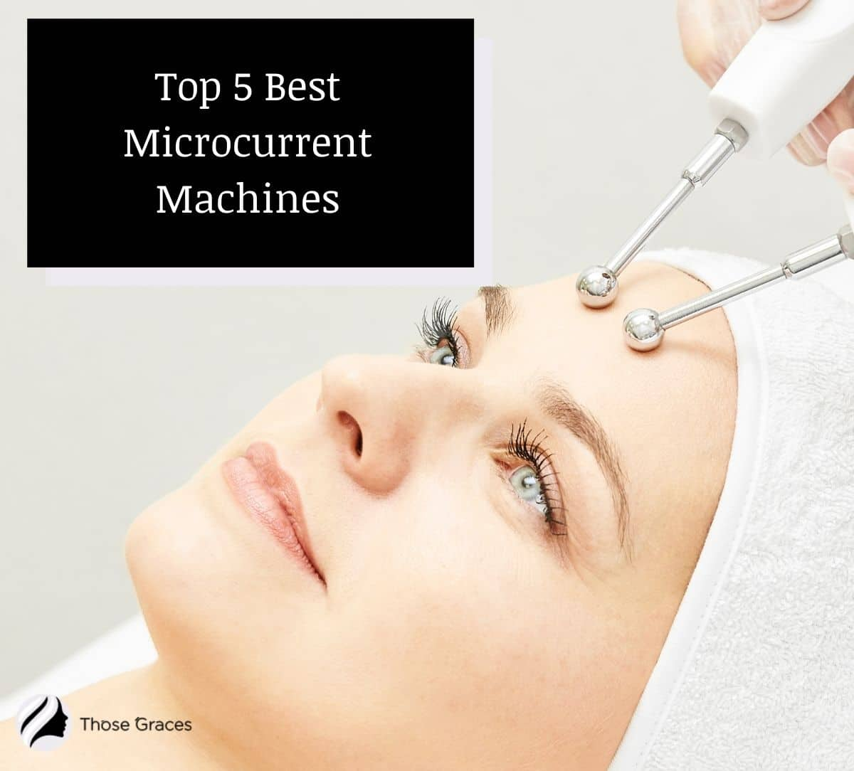 lady having her microcurrent machine treatment