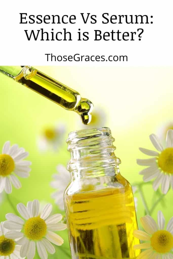 face serum surrounded by white daisies