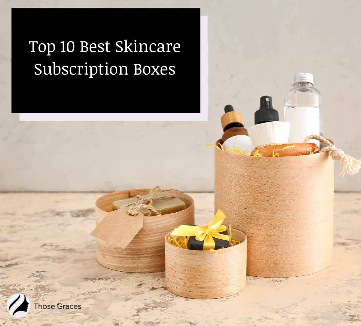 skincare subscription boxes filled with skincare products