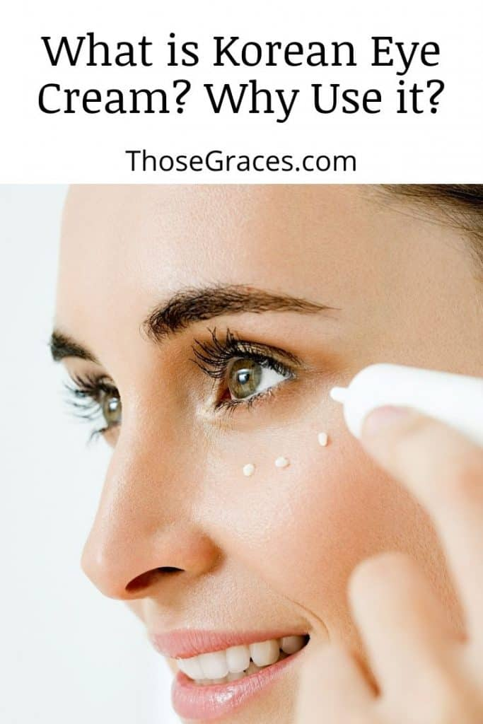 side view of a lady's face with anti-wrinkle eye creams