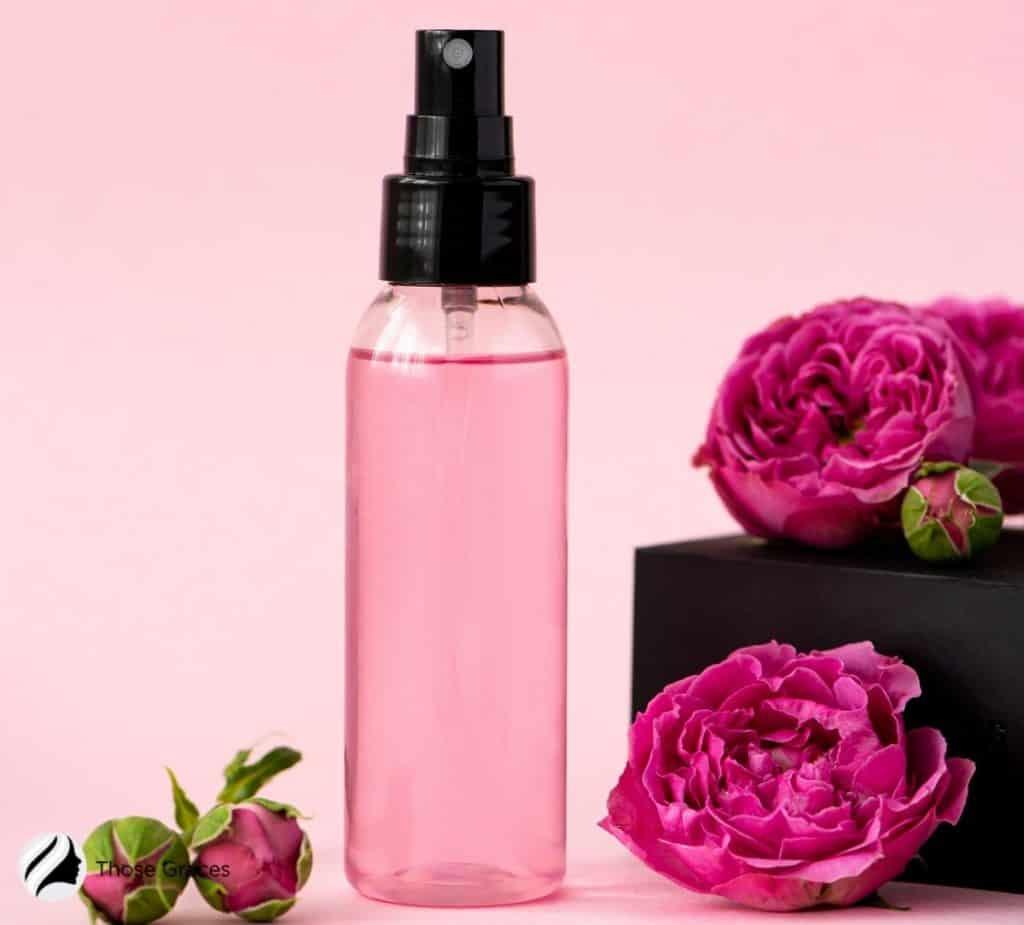 a pink essence spray
