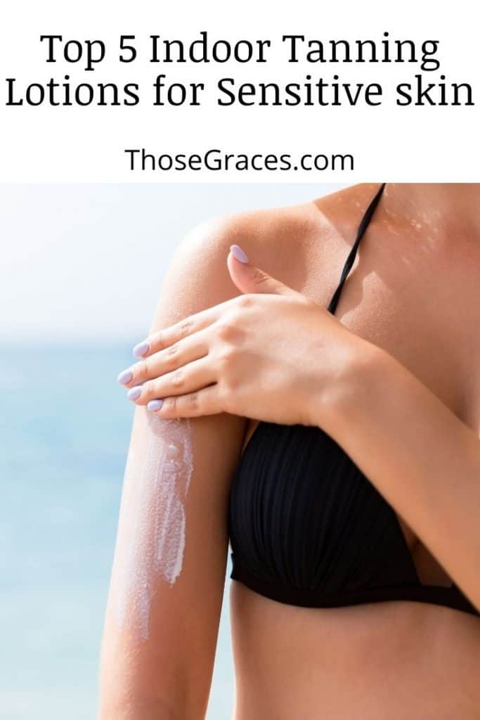 photo of a lady's arms applied with the best indoor tanning lotion for sensitive skin