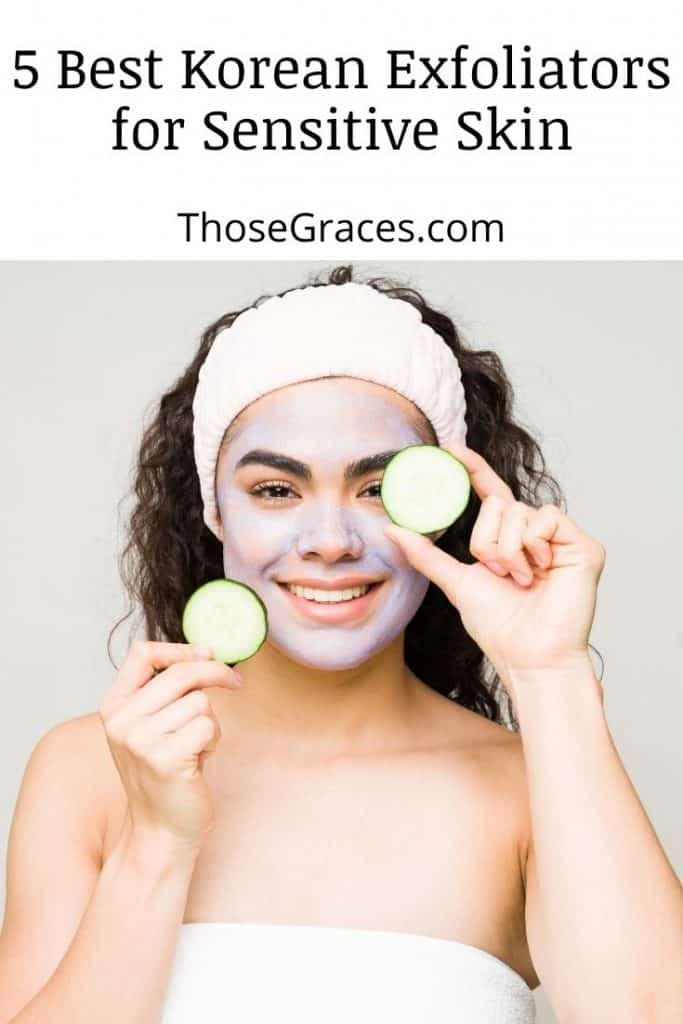 a lady with best korean exfoliator for sensitive skin mask sheet and holding two cucumbers