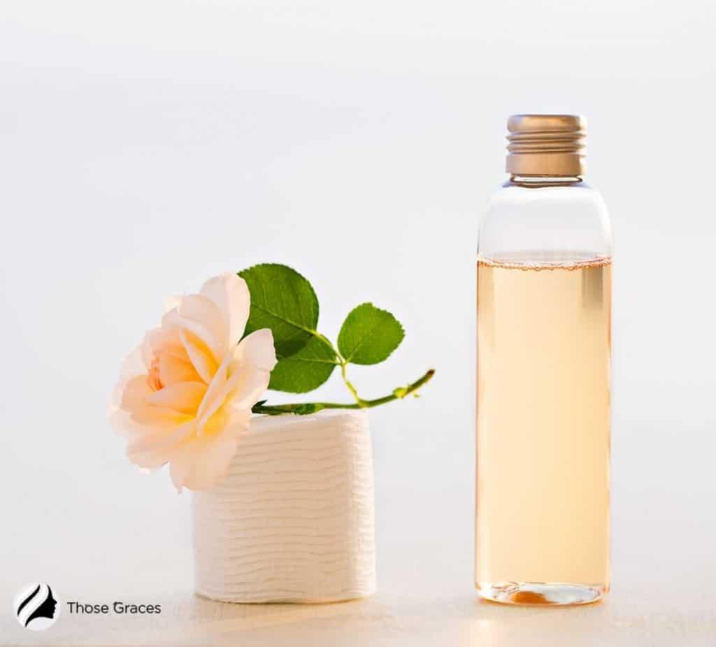 Korean toner made with rosewater