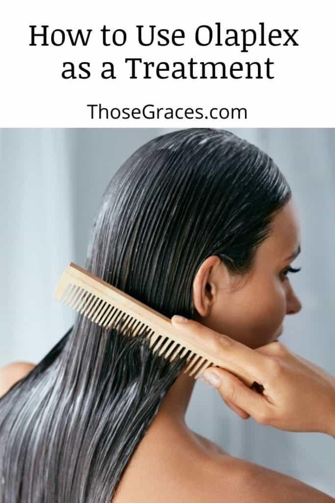 lady using Olaplex conditioner but Is Olaplex Good For Fine Thin Hair?