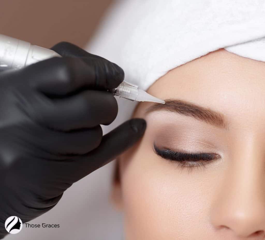 permanent tattoo eyebrow procedure