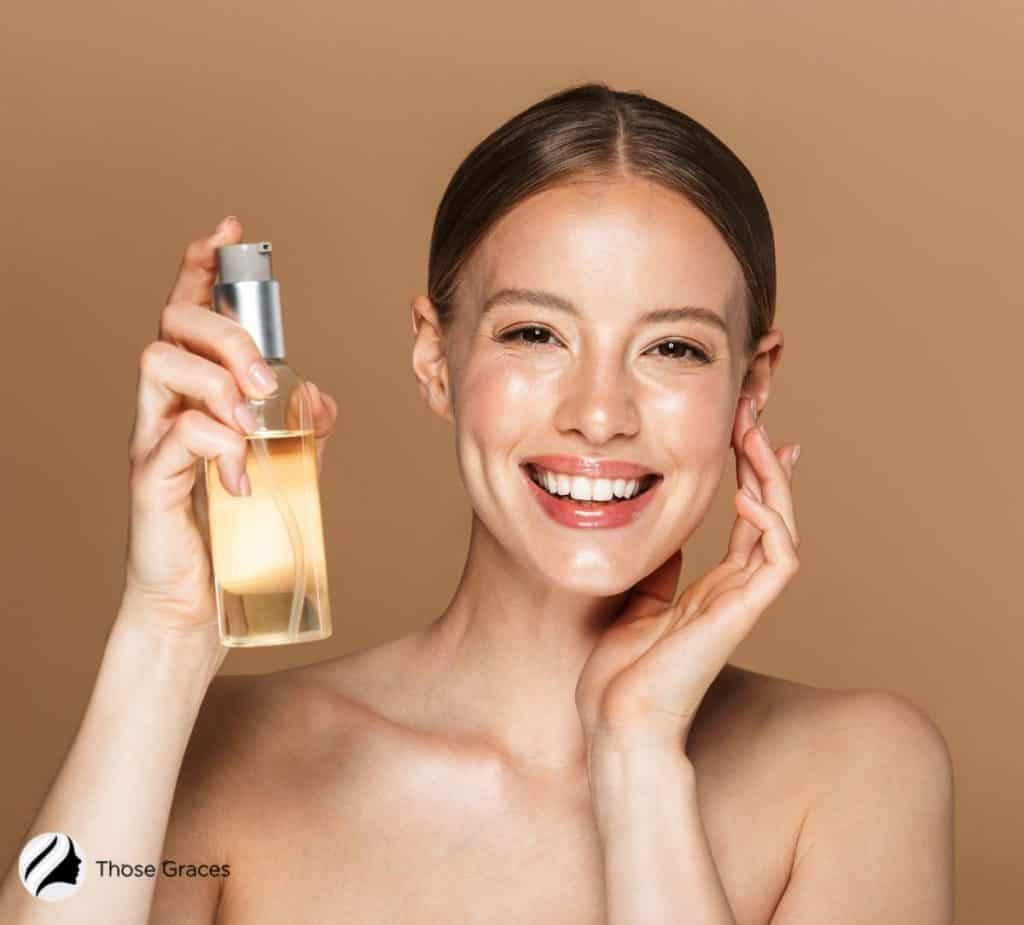 pretty lady holding an oil cleanser so Can I use cleansing oil everyday?