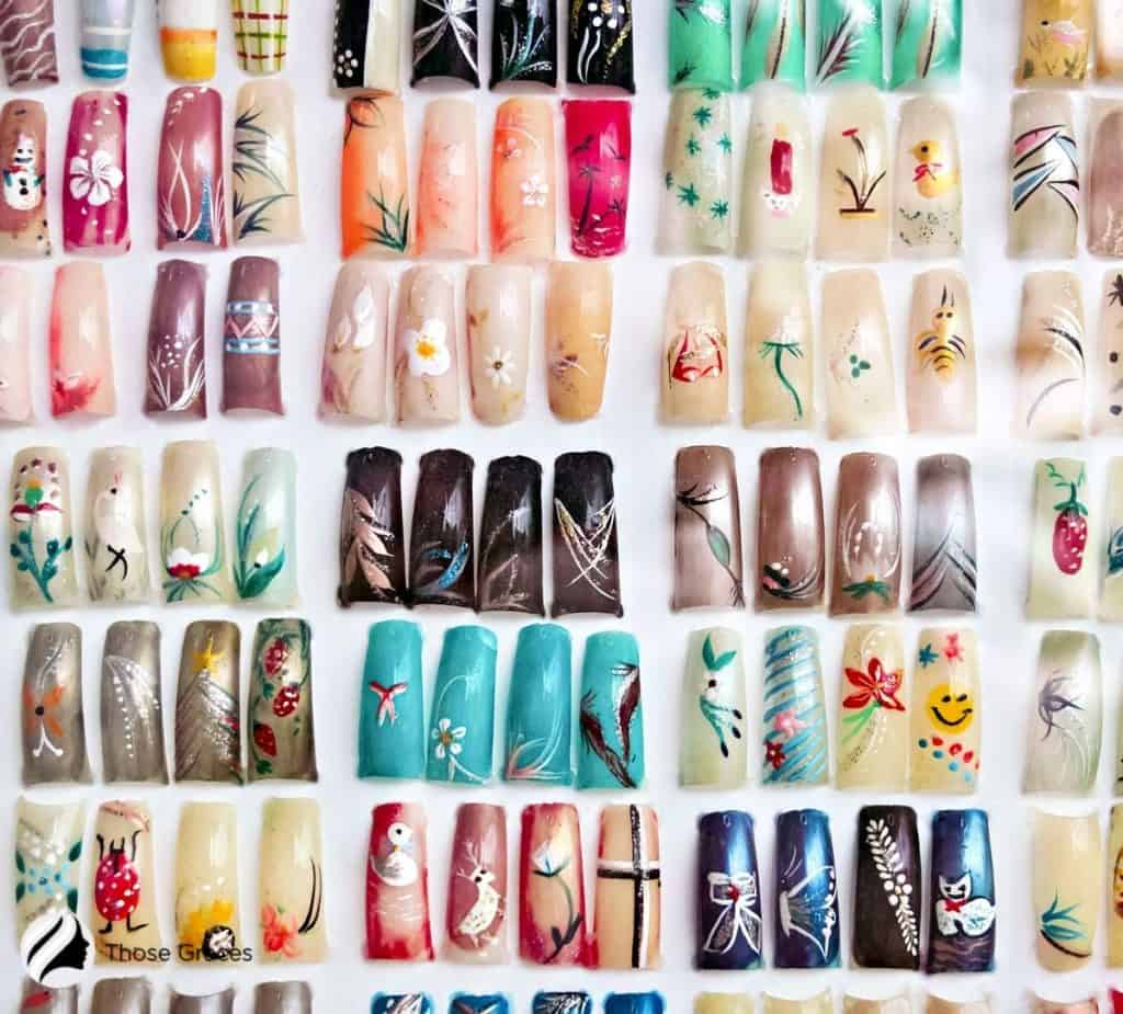 collection of press on nails